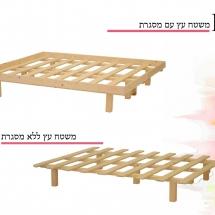 משטח עץ זוגי ( לא כולל מסגרת ) במחיר מבצע מטורף